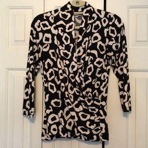 Chaus wrap front blouse, size M